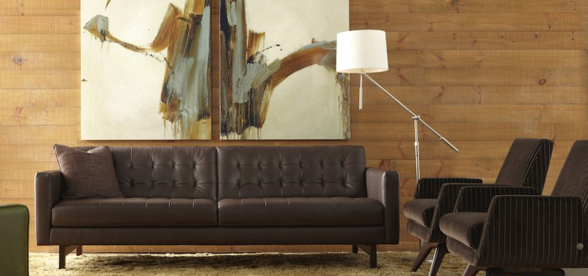 Parker Sofa & Landon Chair from American Leather