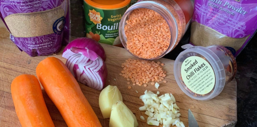Elaine Baines' Two Day Poverty Lentils (or When Is Payday?)