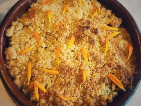 Claudia Huckle's Orange & Rhubarb Crumble