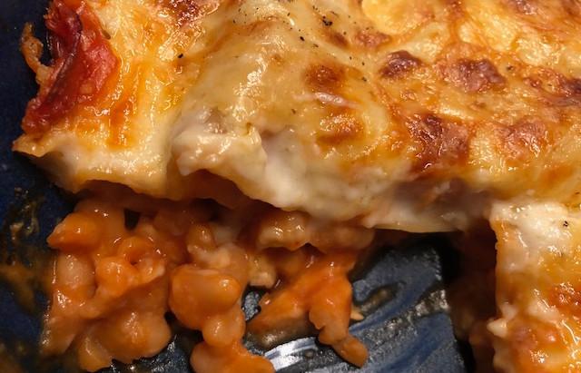 Charlotte Gardner's Baked Bean Lasagna