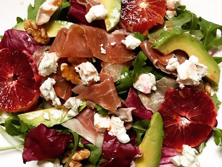 Jennifer Taverner's Arugula Salad With Prosciutto & Blood Orange Vinaigrette