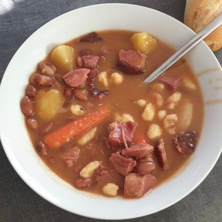 Miklos Sebestyen's Bean Soup With Smoked Pork Knuckles