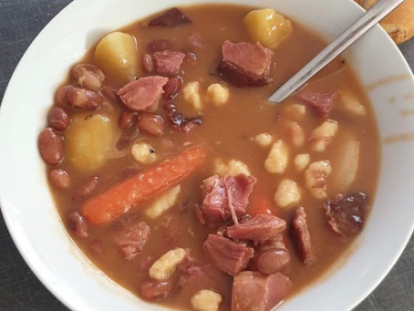 Miklos Sebestyen's Bean Soup With Smoked Pork Knuckles