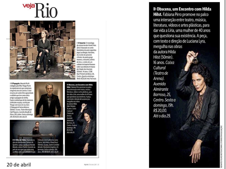 Obscena - veja Rio