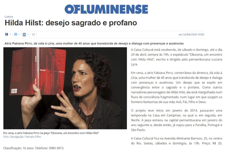 Obscena - O Fluminense