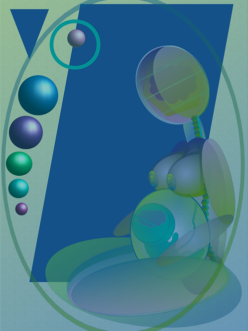 Mother and Child (Blue/Green)