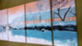 アートパネルインテリア商品雪風景