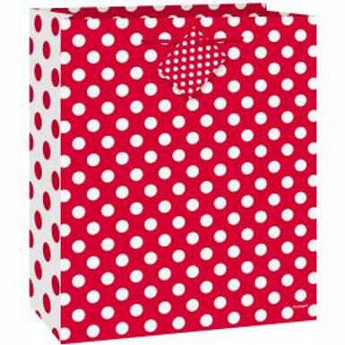 Bag Gift Dots Red