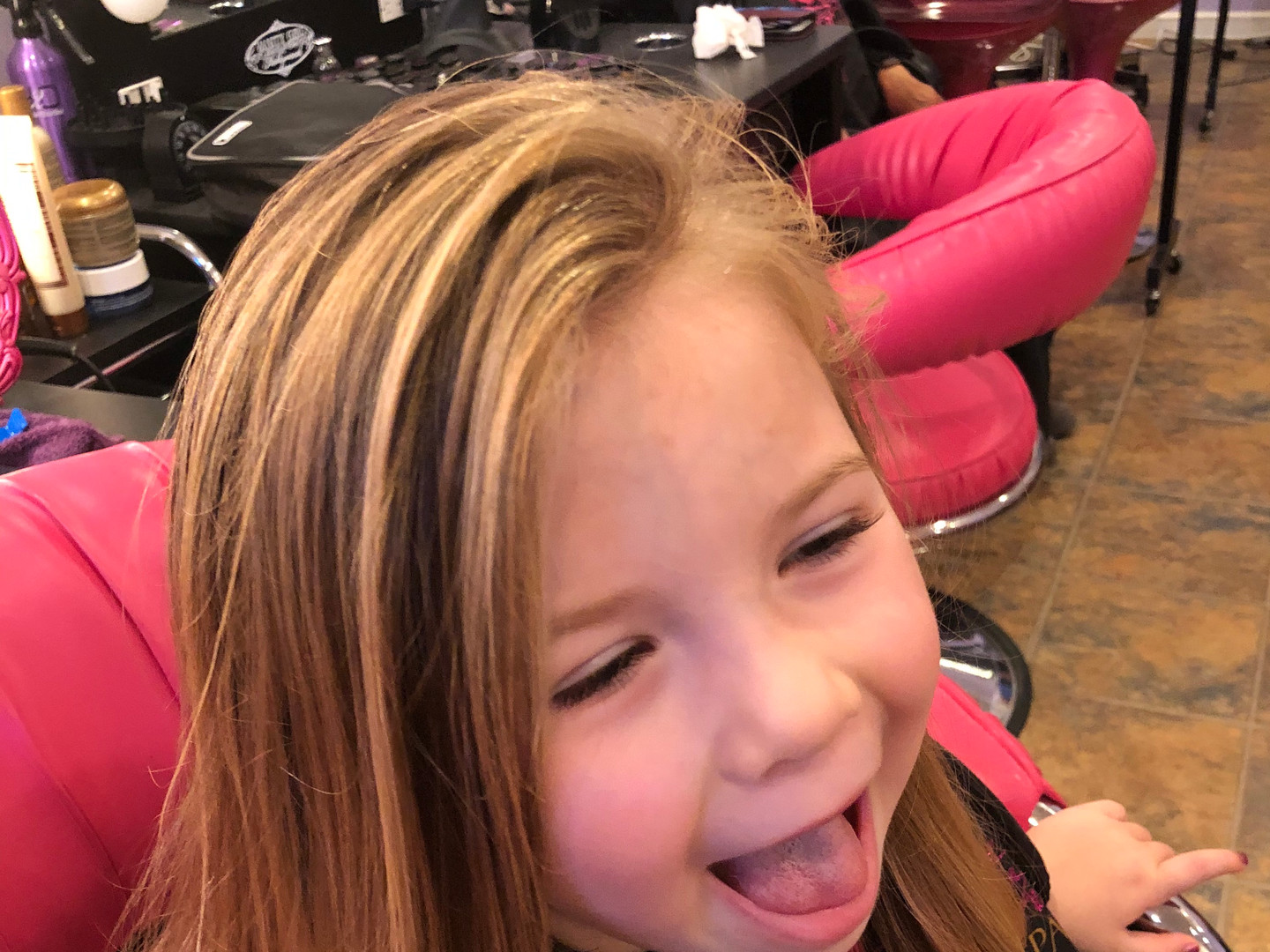 Haircut , blow out and style