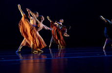 (See Dancer In Front Left Corner of Image)  Etude for Sophomores | Fall Cornish Dance Theater | Choreography by Pat Hon | Image Captured by Jazzy Photo | Lighting Design by Meg Fox | Costume Design by Cornish College of the Arts' Design Department | 2015