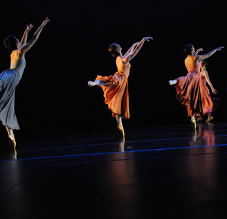 (See Dancer In Center of Image)  Etude for Sophomores |  Choreography by Pat Hon | Fall Cornish Dance Theater | Image Captured by Joseph Lambert/Jazzy Photo | Lighting Design by Meg Fox | Costume Design by Cornish College of the Arts' Design Department | Image used and reprinted with permission of Cornish College of the Arts | 2015
