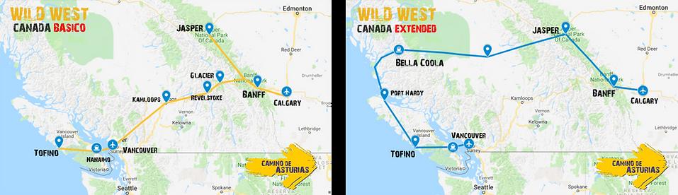 wild west canada mapa
