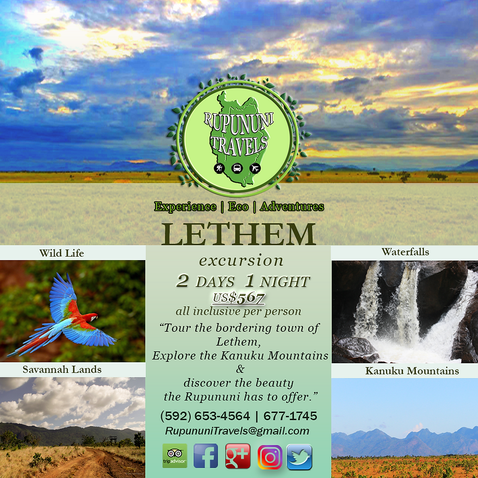 Lethem and Kanuku Mountains Rupununi Eco Hotel