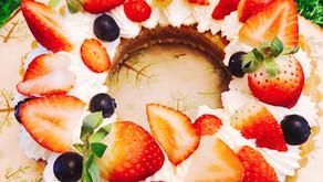繽紛花圈草莓塔