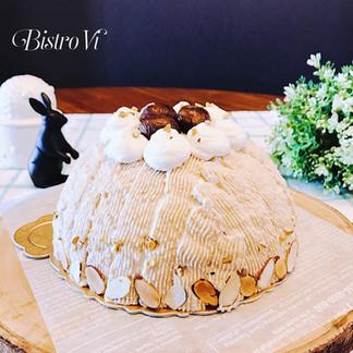 華麗風多層次饗宴~可可栗子圓頂蒙布朗蛋糕