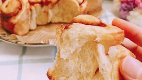 5分鐘免揉麵包-簡易黑糖/椰糖肉桂捲2種作法:蝸牛圈圈版 v.s 花團錦簇版