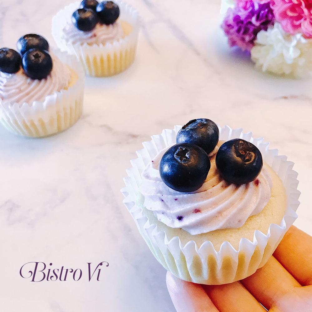 清爽低油版-檸檬優格藍莓起司杯子蛋糕