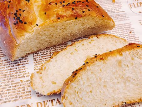 零基礎、免揉、在家輕鬆製作香噴噴歐式軟包 | 哈拉(Challah)辮子麵包