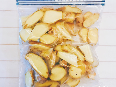 食材冷凍保存術-辛香料-薑片、薑泥