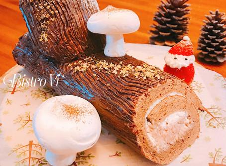 華麗變身木柴蛋糕的巧克力蛋糕捲