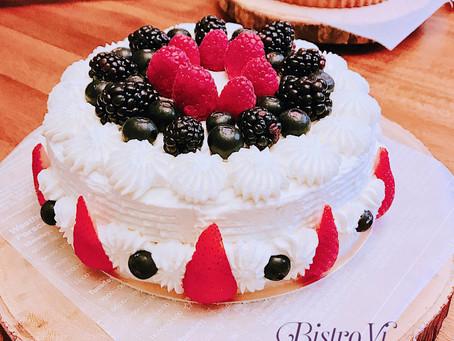 經典生日蛋糕-鮮奶油莓果海綿蛋糕