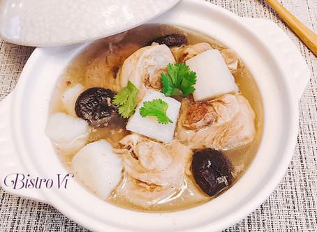 [電鍋/Instant Pot懶人料理] 暖心暖胃-香菇山藥雞湯