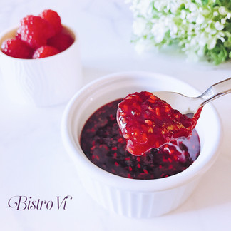 2種材料、簡易快速-自製覆盆莓果醬