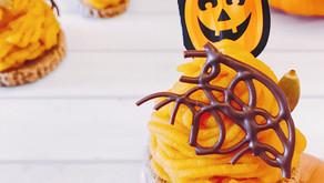 秋冬甜點-南瓜乳酪蒙布朗可可蛋糕