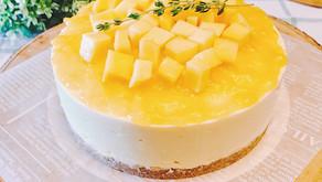 免烤箱多層次-芒果生乳酪藏心蛋糕