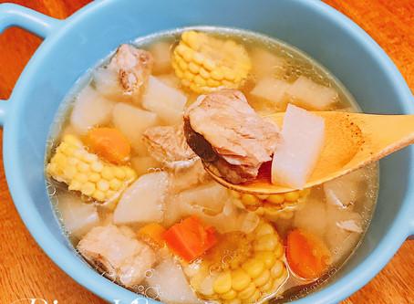 [Instant pot/電鍋] 簡單美味免顧火-暖心蘿蔔玉米山藥排骨湯