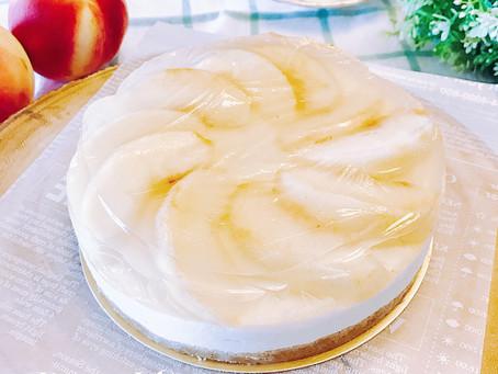 簡易免烤箱多層次甜點-水蜜桃果凍優格生乳酪蛋糕