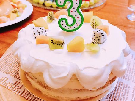 3歲的3場生日會-料理、蛋糕、甜點全記錄