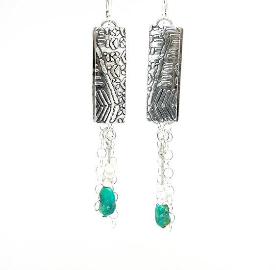 Turquoise Confetti Earrings