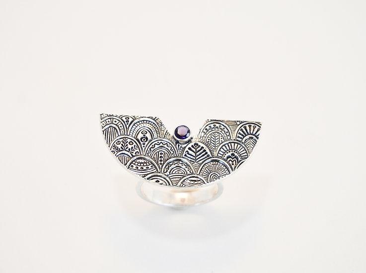 Iolite Goddess Ring