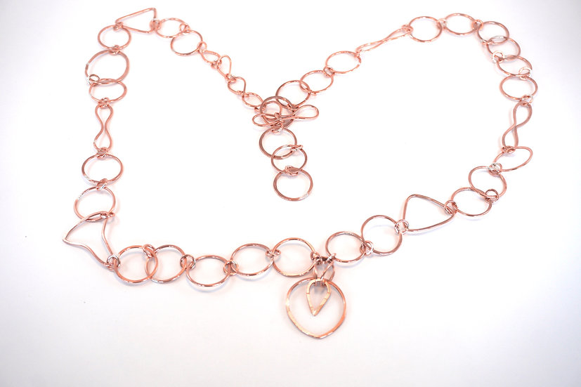 Hand Made Copper Chain - Necklace or Belt