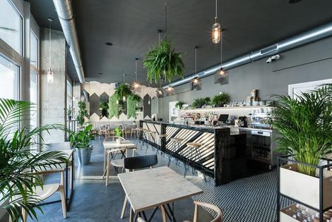 Polished concrete floor in the restaurant ULTIMA BAUFLOOR