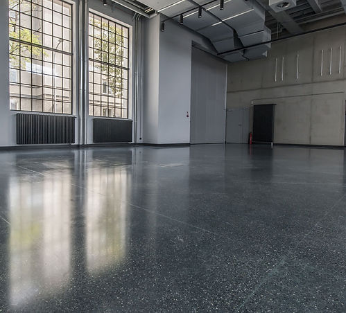Bautech Flooring UK,Polished Concrete Floor,Terrazzo Flooring in the Theatre,Installation and polished Terrafloor,UK,Terrazzo Concrete floor Supplier in UK