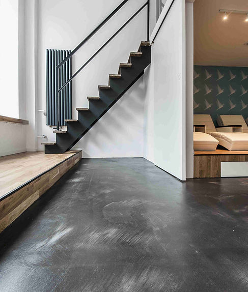 Microcement floor finish