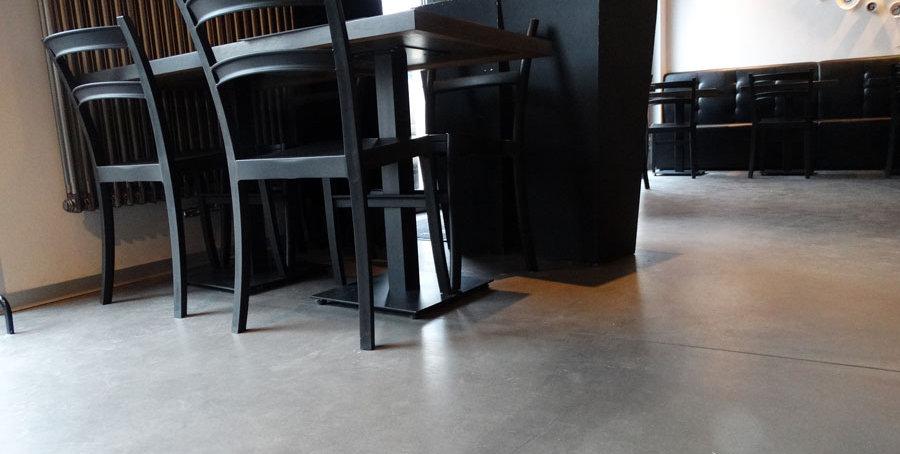 Bautech Flooring UK,Polished Concrete Floor in restaurant,Power floating concrete floor,Installation Ultima Baufloor,UK,Polished Concrete Supplier in UK,Festaurant Flooring