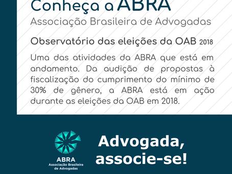Observatório ABRA das eleições da OAB 2018