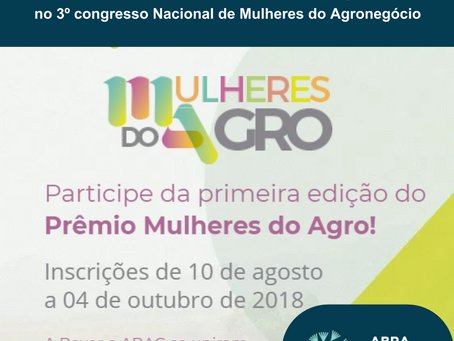 1° Prêmio Mulheres do Agro