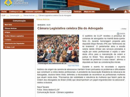Câmara Legislativa celebra Dia do Advogado