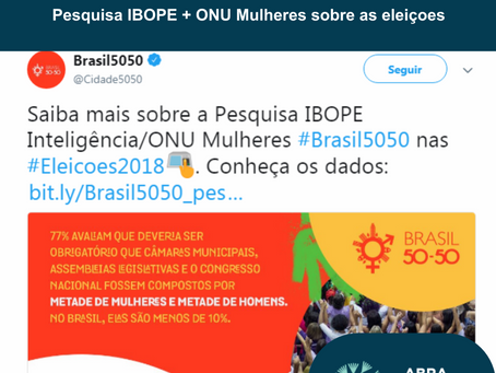 Pesquisa Ibope + Onu Mulheres #Brasil5050