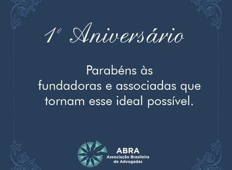 Primeiro aniversário ABRA
