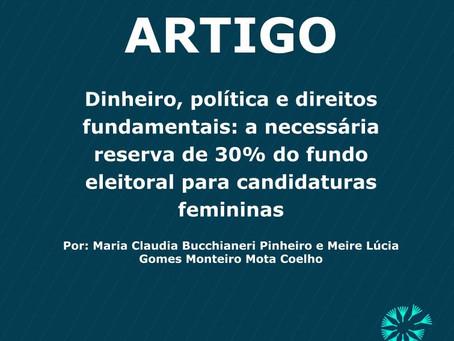 Dinheiro, política e direitos fundamentais: a necessária reserva de 30% do fundo eleitoral para cand