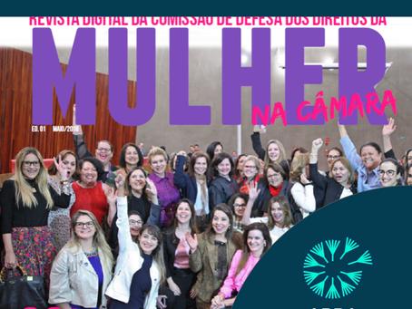 ABRA na capa da edição de Maio da Revista Digital da Comissão de Defesa dos Direitos da Mulher na Câ