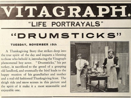 Drumsticks (1910), a lost Thanksgiving classic