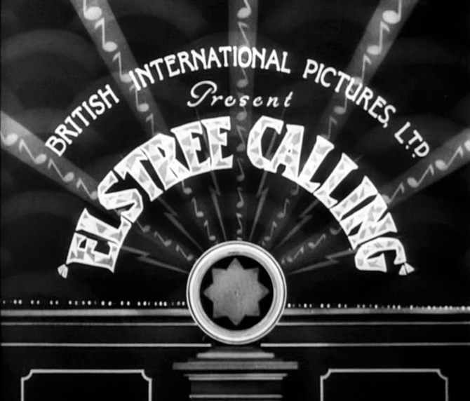 Elstree Calling title card British International Pictures
