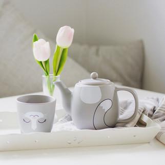 Critter Teapot & Cup