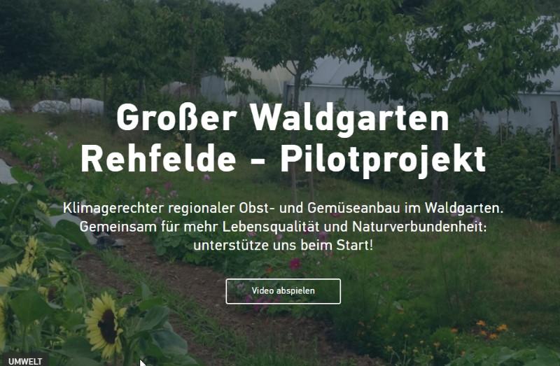Großer Waldgarten Rehfelde in der Nähe von Berlin - ein Pilotprojekt für eine Nachhaltige Landwirtschaft